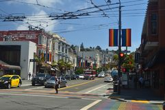Walk Through The Streets Of San Francisco We Find The Castro Neighborhood. Travel Holidays Arquitecture. June 30, 2017. San Francisco. California USA EEUU Royalty Free Stock Photos