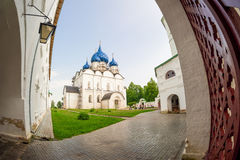 Walk in the Suzdal Kremlin. Russia. Suzdal Kremlin - the oldest part of the city, the core of Suzdal, according to archaeologists with existing X century. The Royalty Free Stock Photos