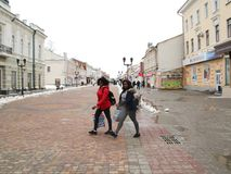 Walk on the Tambov. A stroll through the Tambov. Russian Federation, 24 February, 2017 Stock Photos