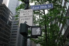 Walk on 39th Street in NYC Stock Image
