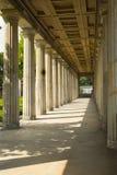 Walk thru with roman pillars Berlin Royalty Free Stock Image