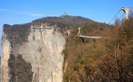 Walk at Tianmenshan. Stock Photos