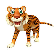 Walk Tiger cartoon character Stock Photo