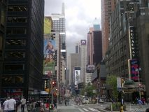 Walk in Times Square. New York City walk Royalty Free Stock Images