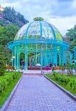 The walk to Borjomi mineral water pavilion Royalty Free Stock Image