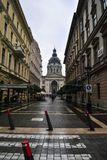 A walk to Budapest. Big bulevard in Budapest after rain Stock Photo