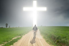 Walk to the Cross Royalty Free Stock Image