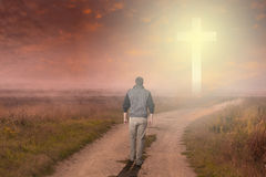 Walk to the Cross Royalty Free Stock Images