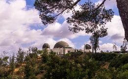 Walk to Griffith Park in Los Angeles. Famous travel destination. Los Angeles, California, USA - June 12, 2017: picturesque panorama of Griffith Park in Los Stock Photos