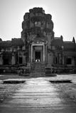 Walk to history. A part of the ruins of ankor wat , Cambodia royalty free stock photography