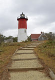 Walk to Nauset. Stairway to Nauset Lighthouse - Cape Cod National Seashore, Massachusetts, USA Royalty Free Stock Photography