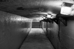 Walk to the other side. This is a passage tunnel under a railroadtrack and is made in 1929 Stock Photo