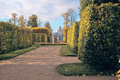 Walk to the pavilion. `Grotto` in the Catherine Park Stock Photo