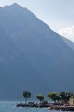 Walk in Torbole (lake Garda). A beautiful view of the walk of Torbole (Garda Lake. Italy) under the mountains Royalty Free Stock Photography