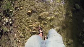 Walk Trough Water. Video of Walk Trough Water stock footage