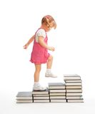 Walk up the educational steps Royalty Free Stock Photos