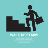 Walk Up Stairs Symbol Stock Photos