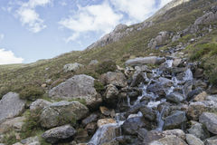 Walk up Y Garn Snowdonia North Wales UK. Stock Images