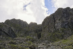 Walk up Y Garn Snowdonia North Wales UK. Royalty Free Stock Photo