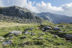 Walk up Y Garn Snowdonia North Wales UK. Stock Photo