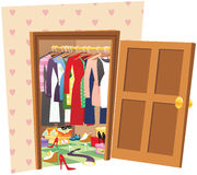 Walk in wardrobe Royalty Free Stock Photo