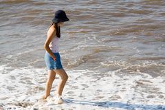Walk on water Stock Photography
