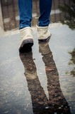Walk on water Royalty Free Stock Photography