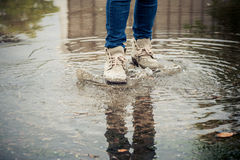 Walk on water Stock Image