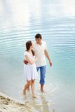 Walk in water Royalty Free Stock Photography
