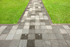 Walk way. The walk way surface of concrete blocks Stock Images