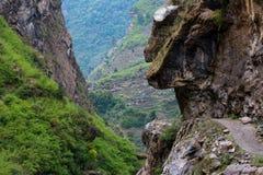 Walk way. Annapurna Circuit , Nepal Stock Images