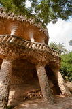 Walk way of Antoni Gaudi in park Guell Stock Photography