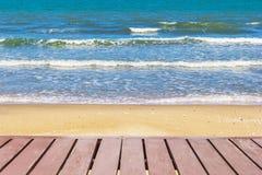 Walk way at beach Stock Photography