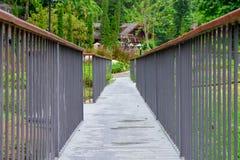 Walk Way. In the beautiful graden Stock Images