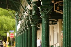 A walk way blurry. Stock Photography