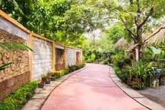 Walk way in botanic garden. Thailand Royalty Free Stock Photography