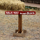 Walk way do not Block Stock Photography