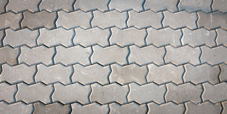 Walk way floor pattern Royalty Free Stock Photography