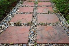 Walk way in garden Stock Images