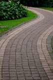 Walk way with grass Royalty Free Stock Image
