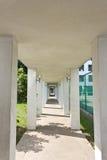Walk way of hotel Stock Image