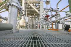 Walk way in Industrial plant Stock Photography