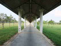 The walk way is long and far away. Royalty Free Stock Photos