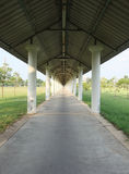 The walk way is long and far away. Royalty Free Stock Photography