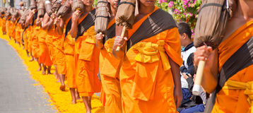 Walk way. For the monks Stock Photography