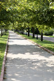 Walk way in the park Stock Photography