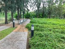 Walk way path in the garden. At thailand Royalty Free Stock Images