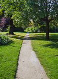 Walk way path. In green park in Paris Royalty Free Stock Images