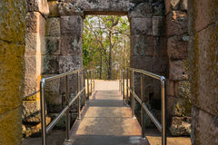 Walk way at Phanom Rung historical park. Stock Photography