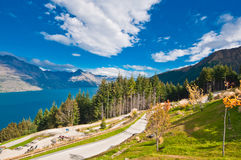 Walk way at Queenstown Stock Photography